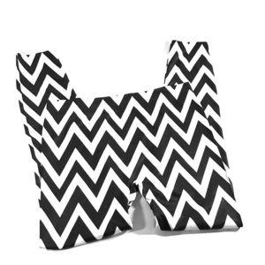 Chevron pattern striped leggings